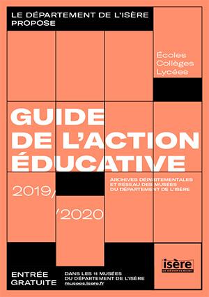 couverture du guide de l'action éducative 2019-2020