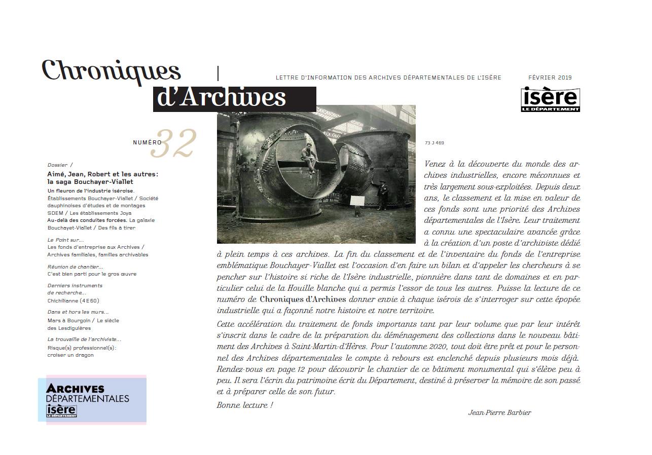 Chroniques d'Archives N°32