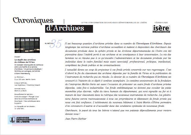 Chroniques d'archives N°35