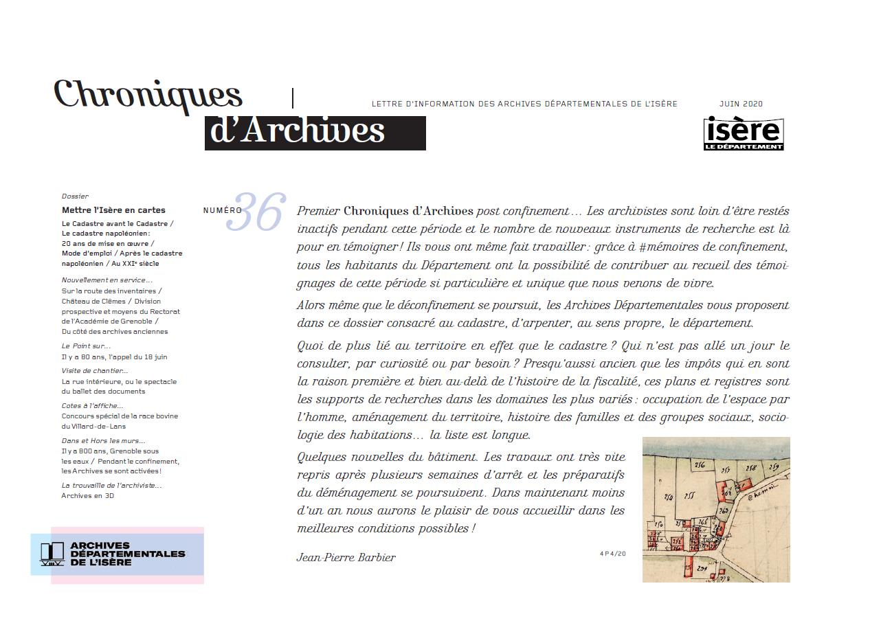 Chronique d'archives N°36