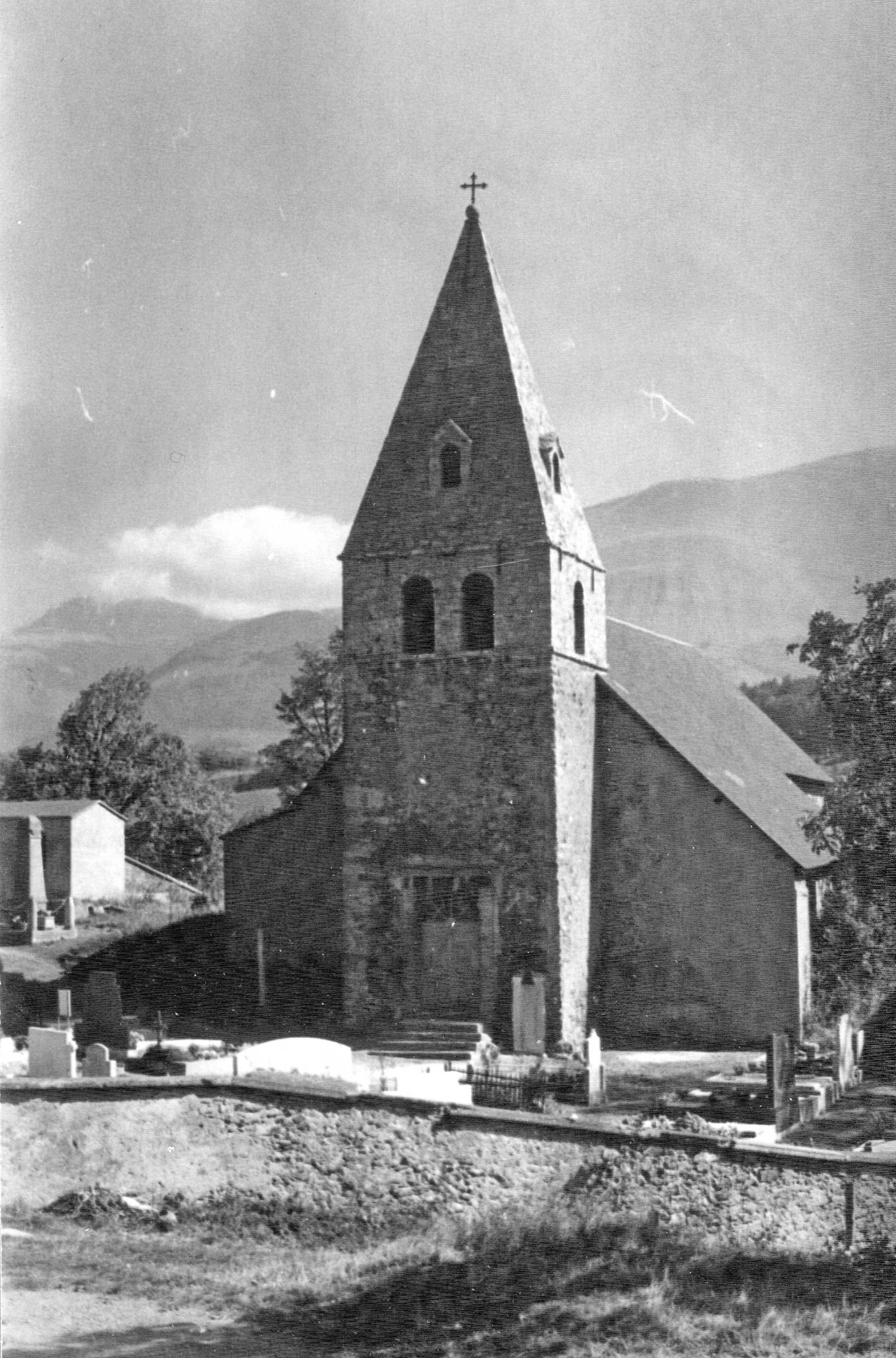 Eglise de Saint-Jean-de-Vaulx, cliché Abbé Meyer (c)Patrimoine cuturel-CD38