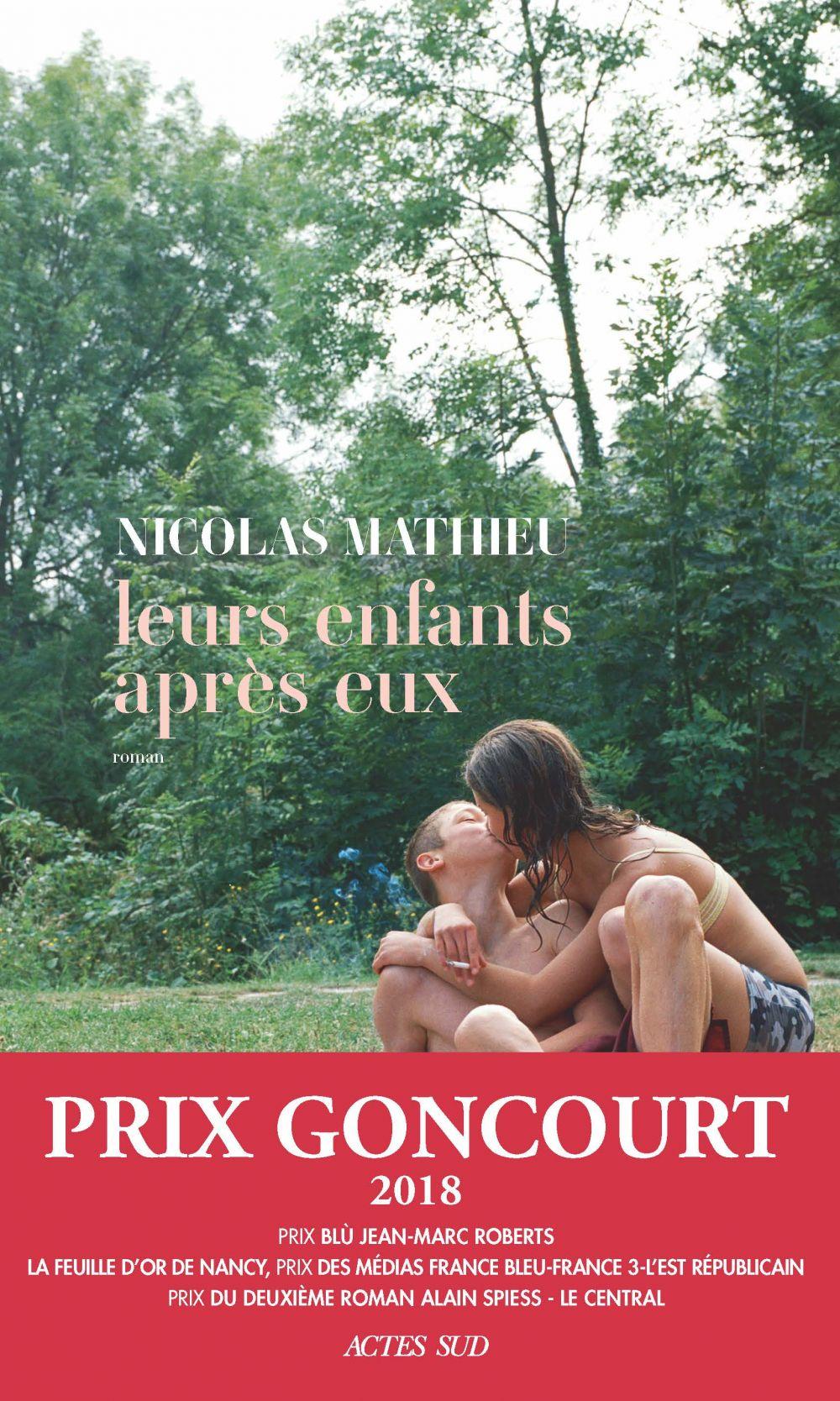 Leurs enfants après eux, de Nicolas Mathieu (couverture de l'ouvrage)