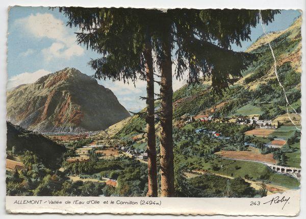 Carte postale Allemont