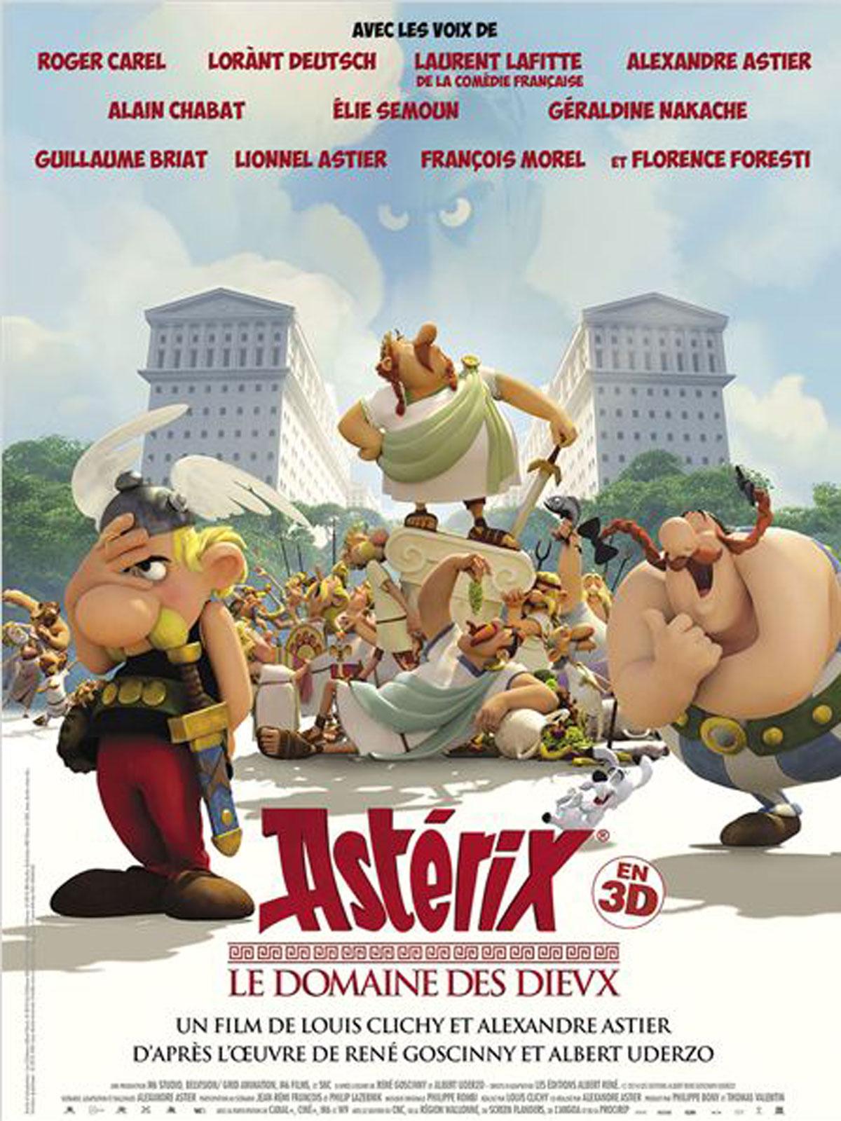 Affiche du film Astérix - Le domaine des dieux / ressource médiathèque départementale de l'Isère