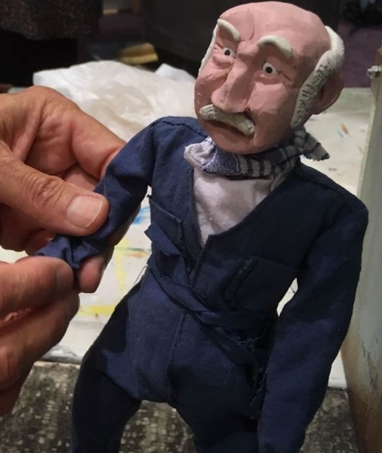 Petit personnage réalisé par Jean-Christophe Houde dans le cadre de sa résidence en Isère (cinéma d'animation)