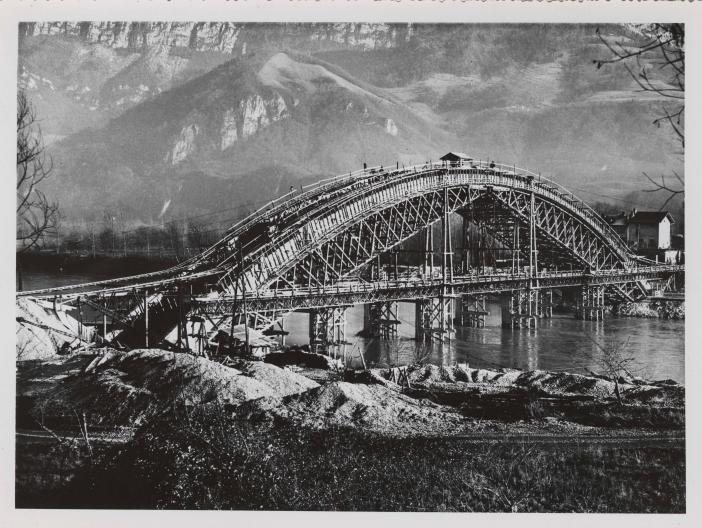 Construction du pont Saint-Gervais