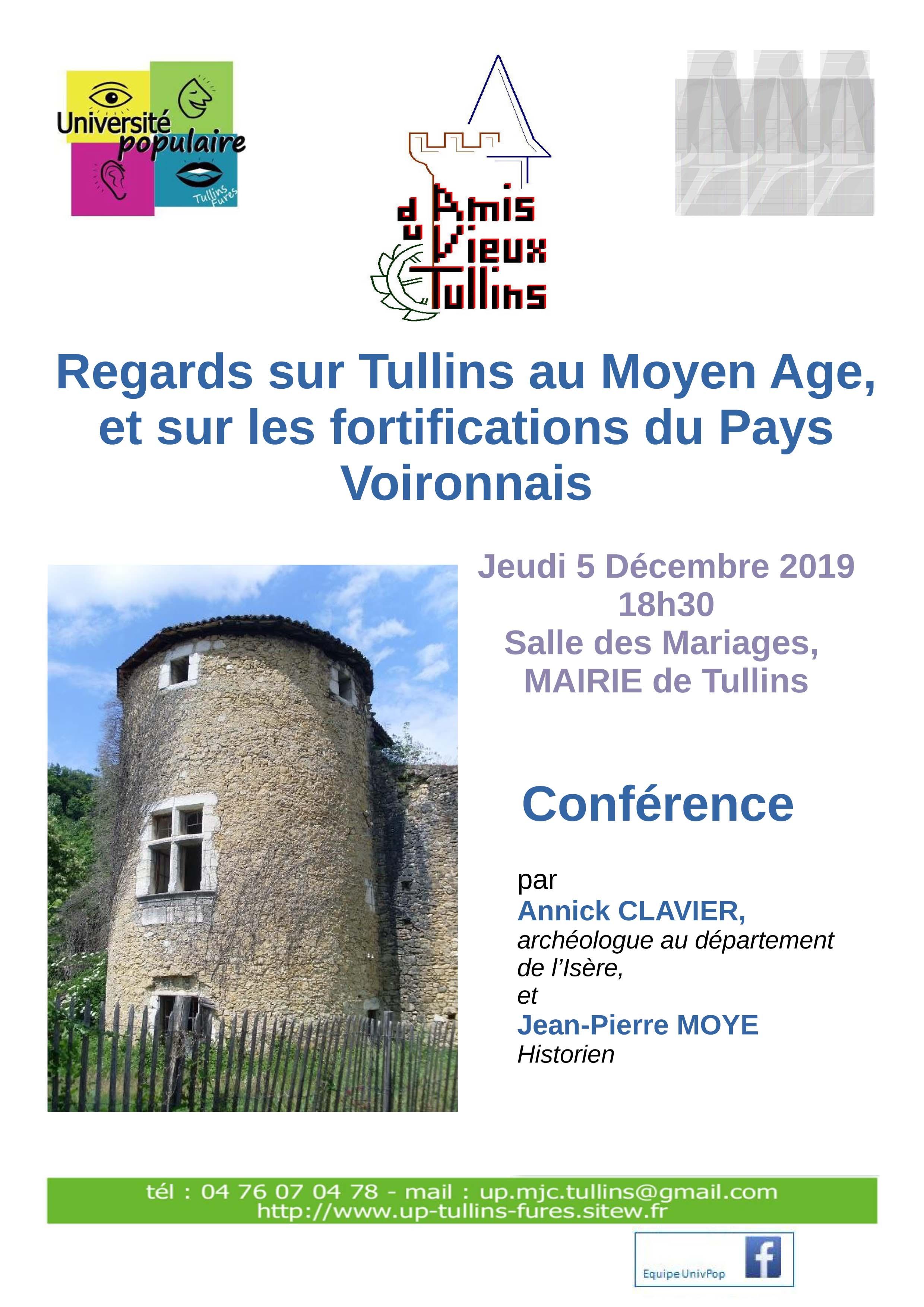 """Conférence """"Regards sur Tullins au Moyen age"""""""