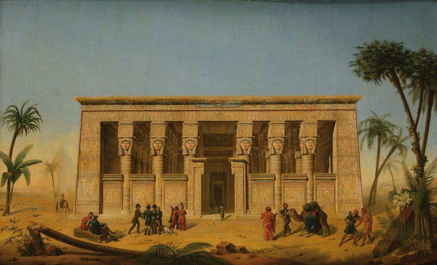 Temple de Dendera - F.M. Testard / coll. Musée Champollion, Vif