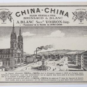 La distillerie China-China à Voiron, entête de lettre © Archives Privées